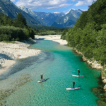 Whitewater paddleboarding on the Soca river